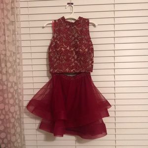 Maroon homecoming/prom/event dress